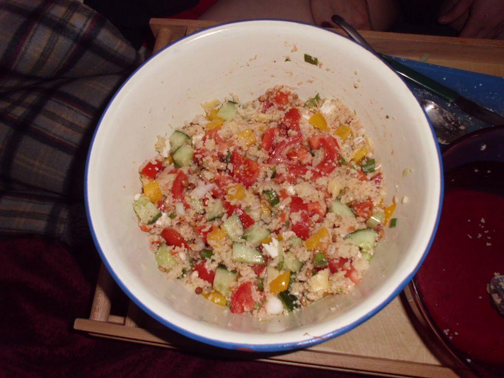 Cous-Cous-Salat mit Käse