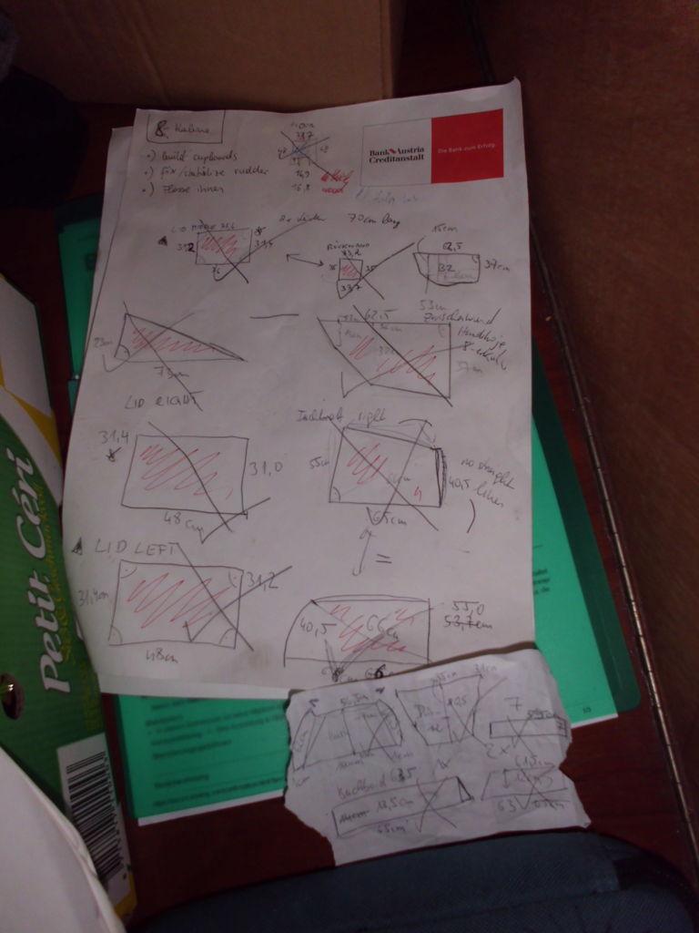 Skizzen von den anzufertigenden Brettern