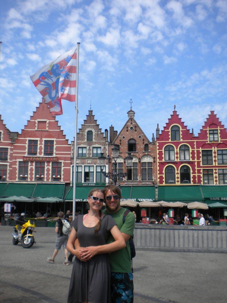Der Hauptplatz in Brugge