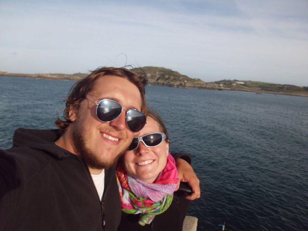 Selfie am ewig langen Wellenbrecher