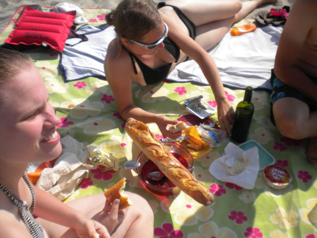 Picknick am Strand