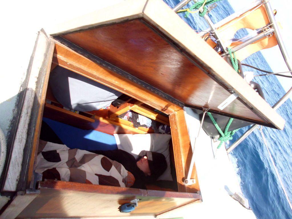 Schlafen in der Achterkabine