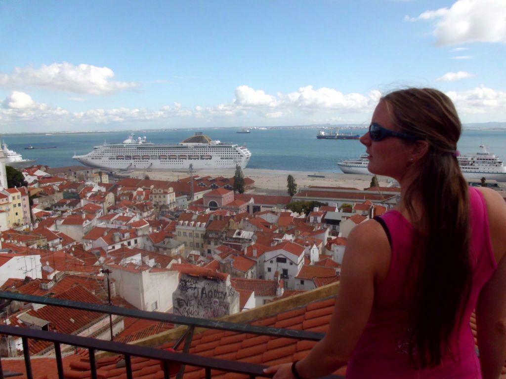 Aussicht auf portugiesische Dächer