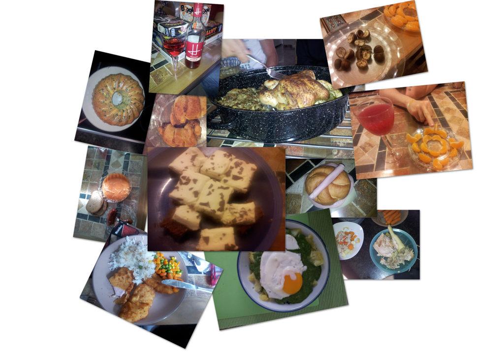 Spinat, Grillhendl, Paradeiskraut + Käsekrainer, Wurstsemmel, Ameisenkuchen, Philadelphiaschnitte, Nusskipferl, Sturm, Uhudler, Kastanien --> yammie :)