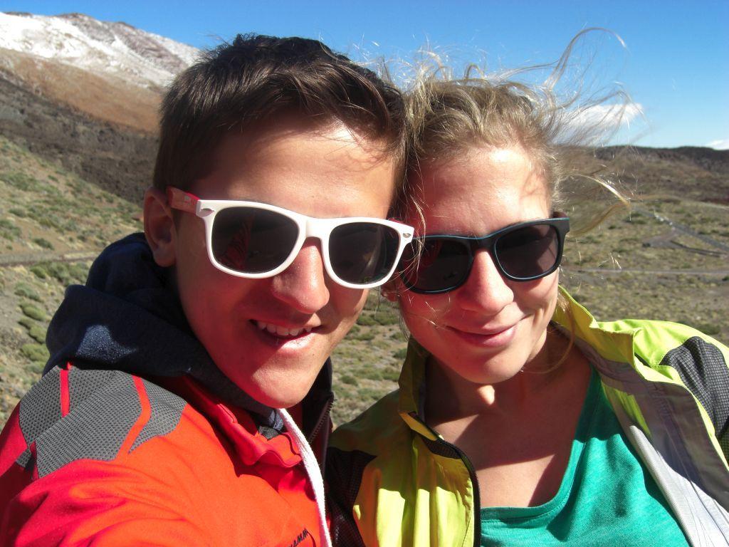 """Martin und Anna """"fast"""" am Gipfel"""