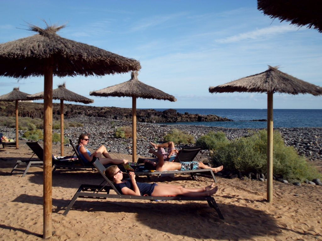 Am Strand in Süd-Teneriffa