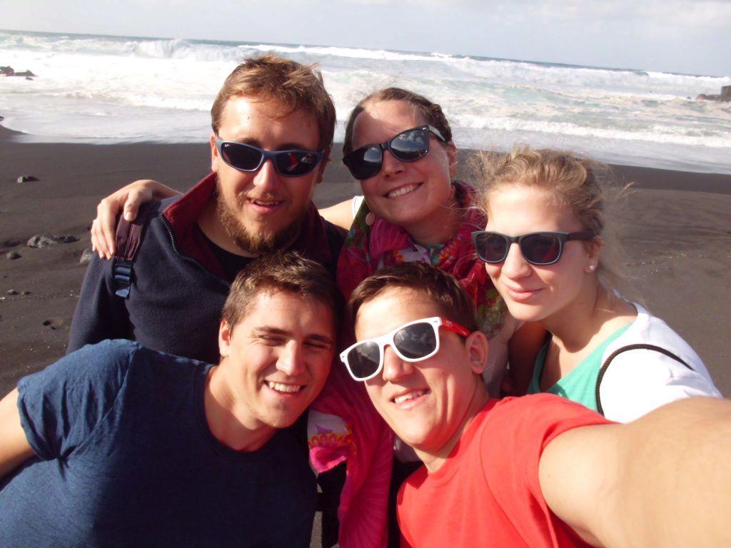 Selfie vor der Brandung in Puerto de la Cruz