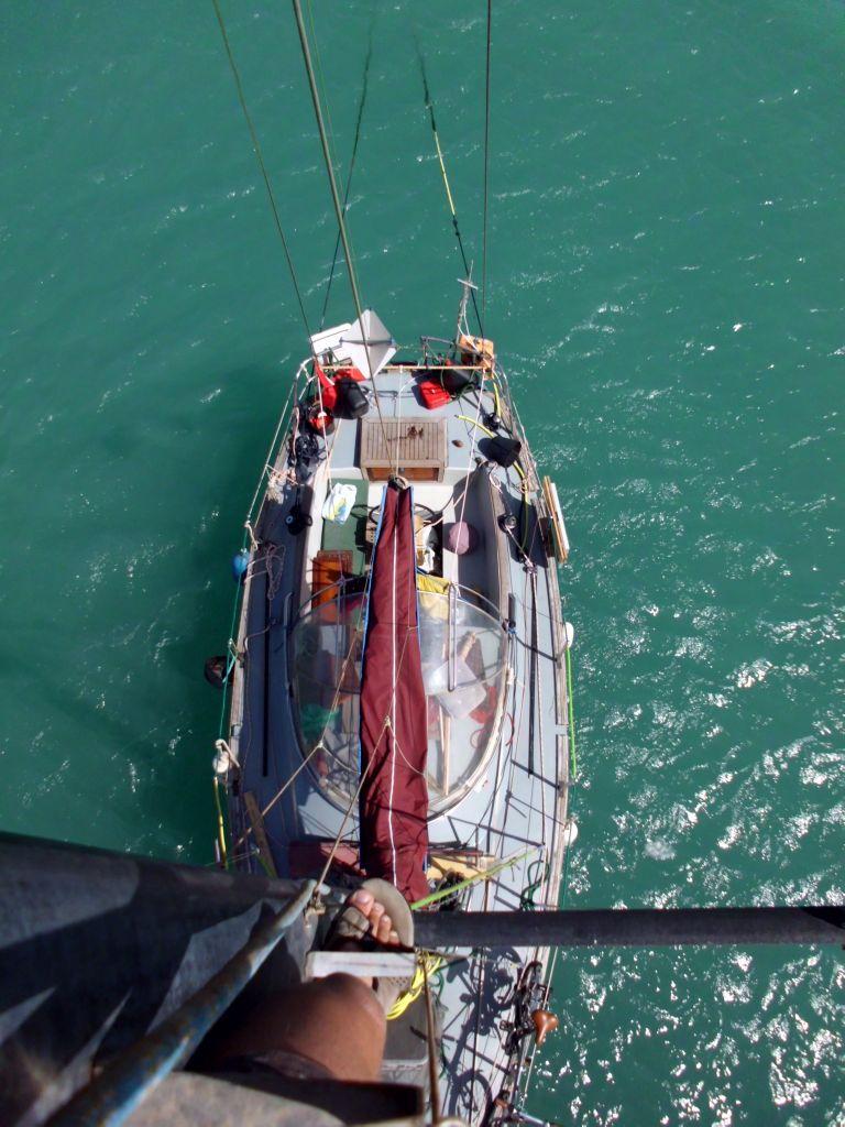 Die SAILOR MOON in der Marina (die Maststufen halten, LG ins Burgenland :-) )