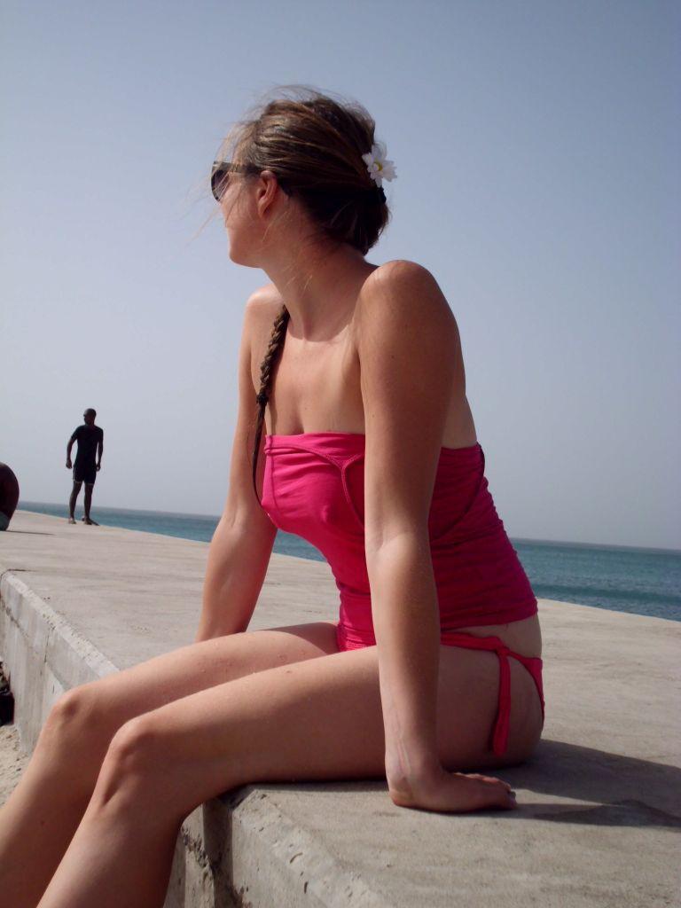 Modelfoto am Strand