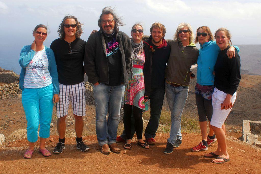 Steffi, Milan, Tom, Jaqueline, Mischa, Thomas, Anja und Charlotta