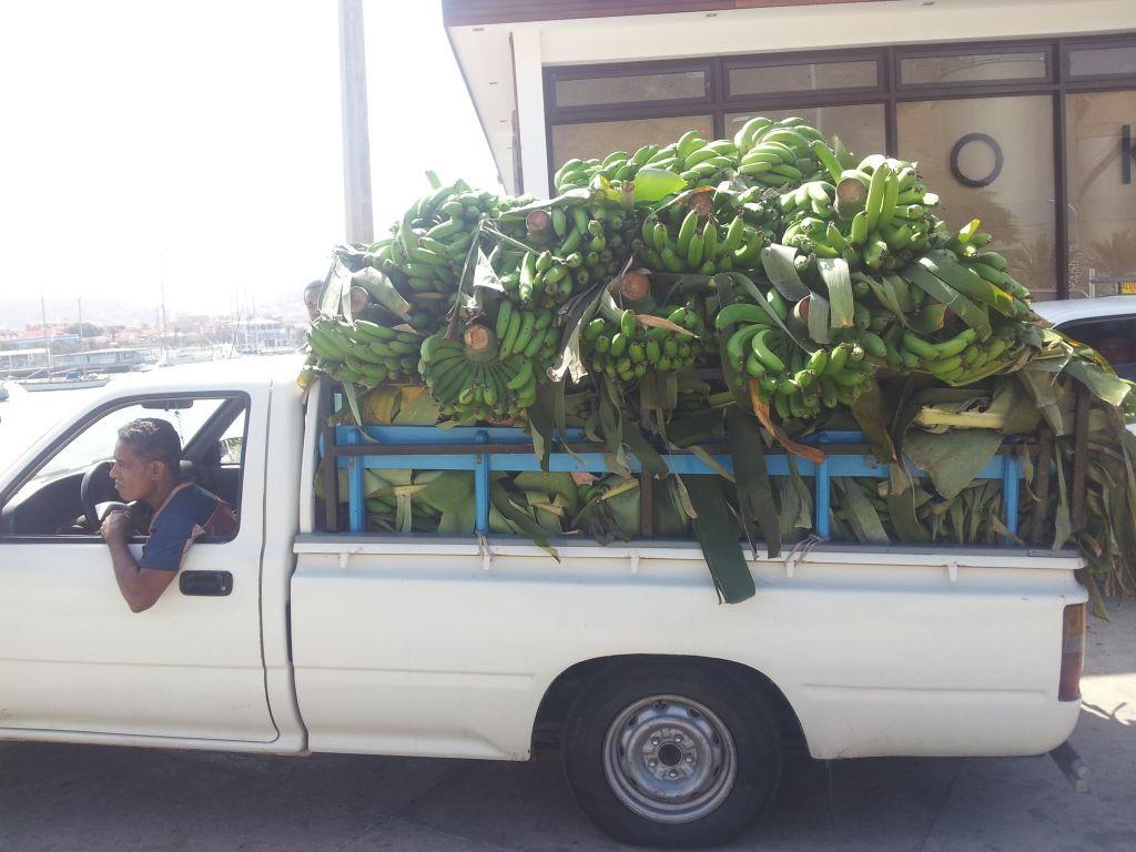 Noch ein paar frische bananen eingekauft und los gehts!