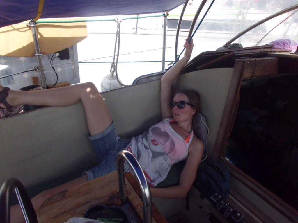 Relaxen nach der Ankunft