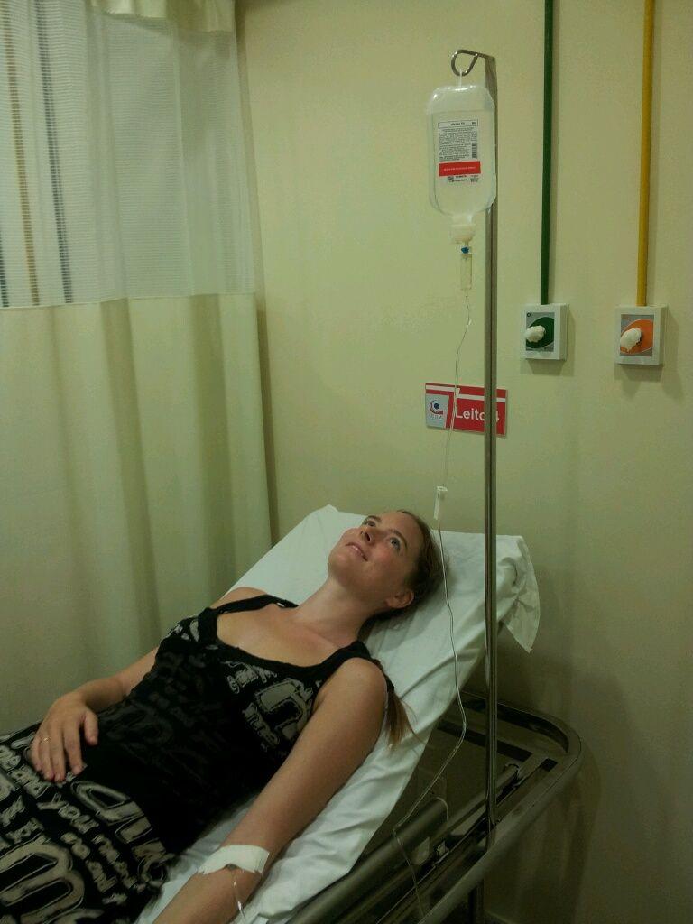 Eine Infusion in der Notfallambulanz