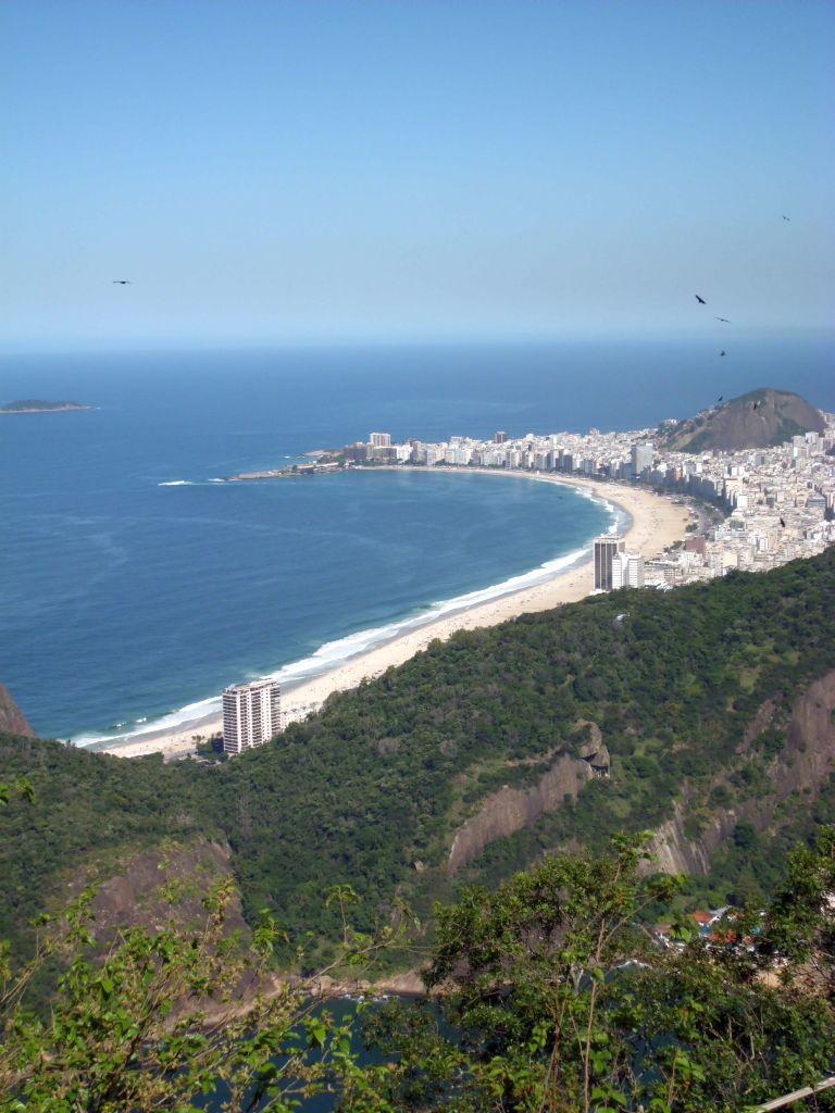 Die Copacabana, vom Zuckerhut aus gesehen
