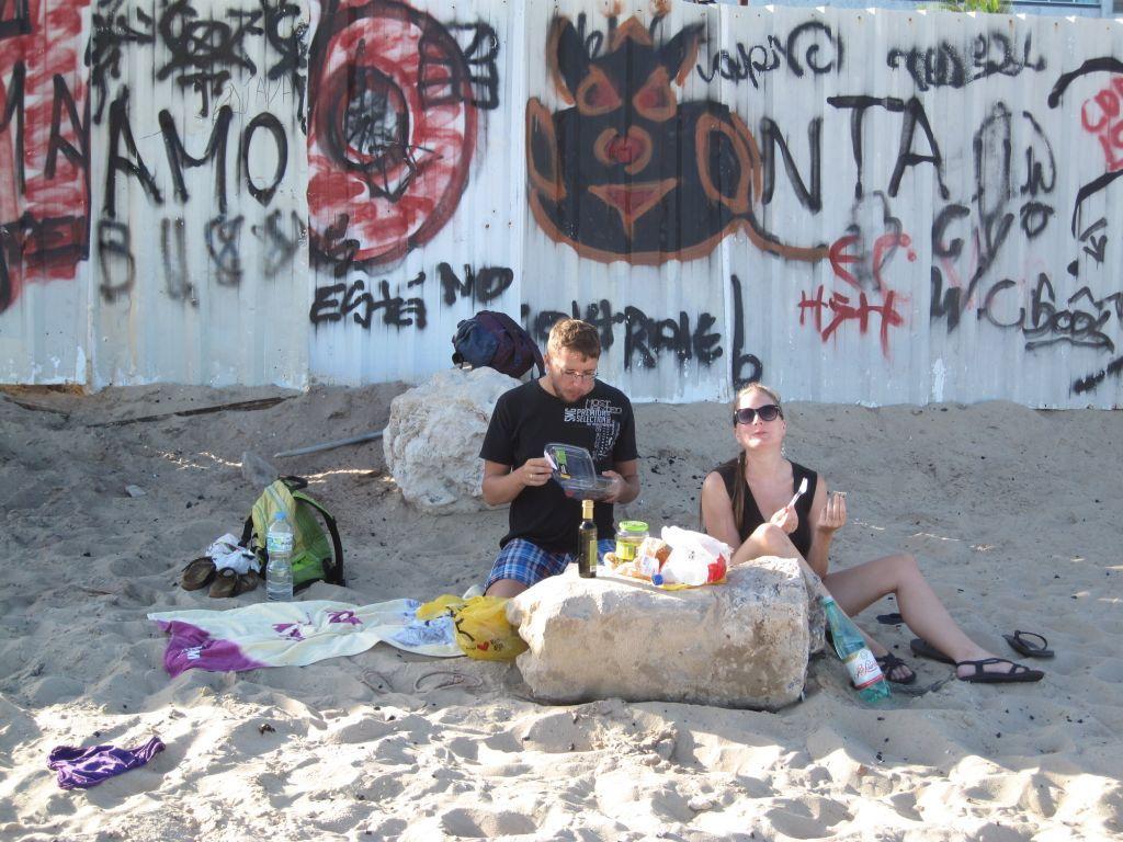 Picknick am Strand von Ipanema
