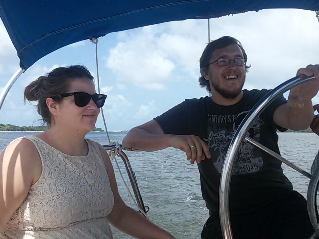 Ein paar Stunden Segeln auf Guilherme's neuem Boot
