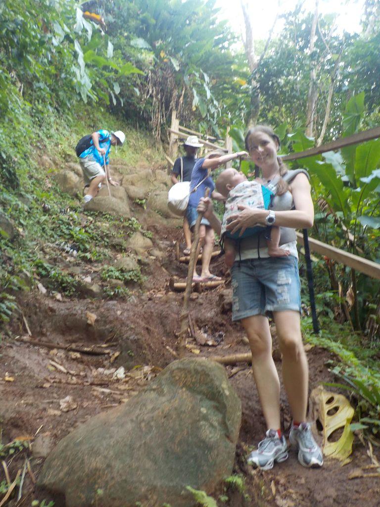 Der Weg zu den Wasserfällen, nicht ganz einfach!
