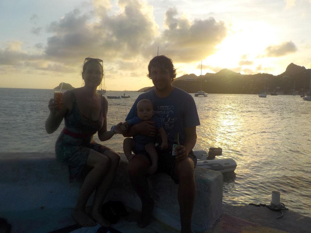 ein Sundowner auf Happy Island