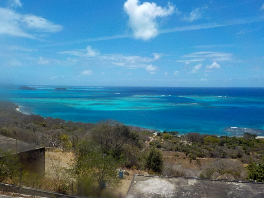 Aussicht auf die Tobago Cays von Mayreau