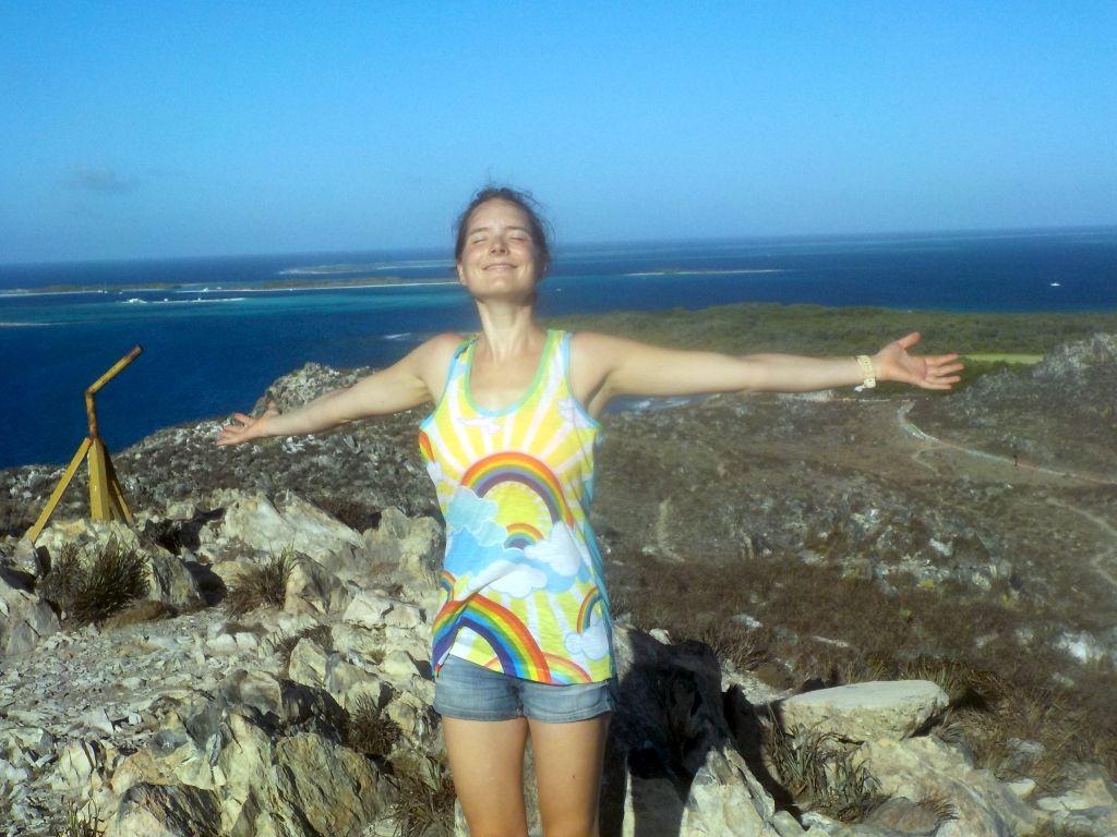 Jaqueline genießt den Wind