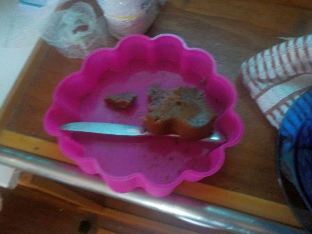 ...aber der Kuchen ist weg...