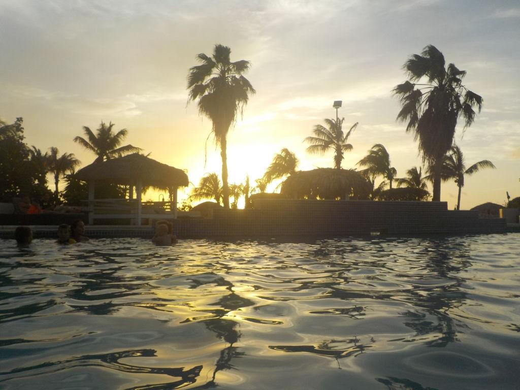 Sonnenuntergang im Plaza Resort