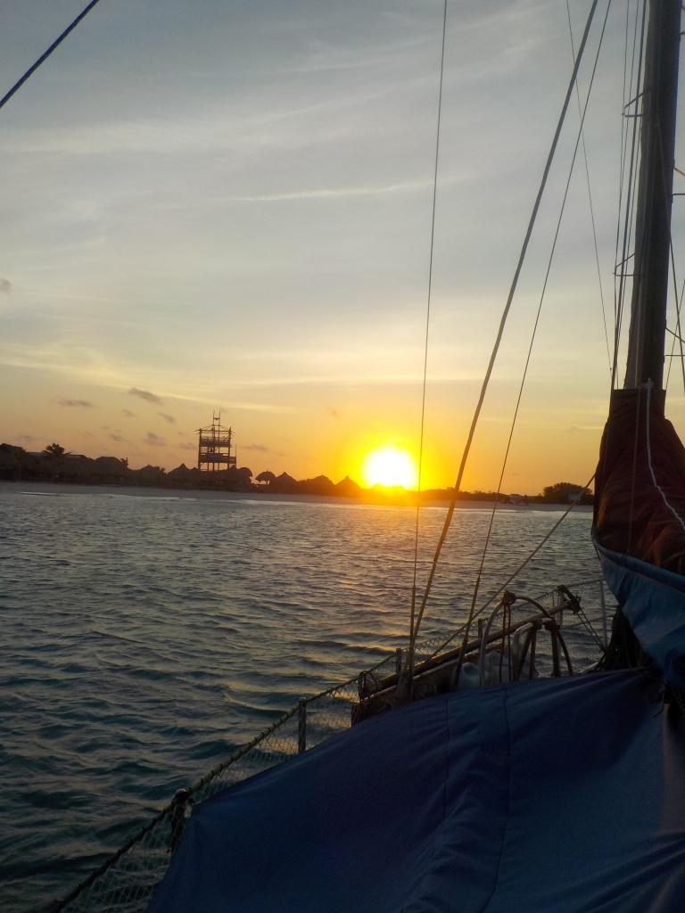 Sonnenaufgang auf Klein Curacao