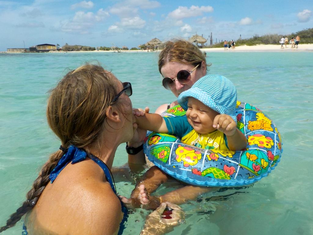 drei Generationen im Wasser
